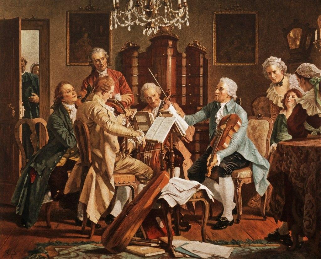 Joseph Haydn speelt kwartet