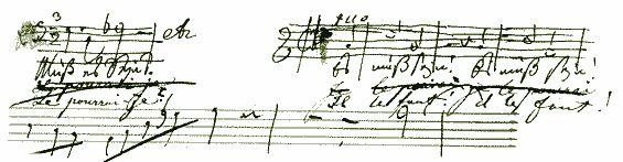 Beethoven's manuscript 'muss es Sein'?
